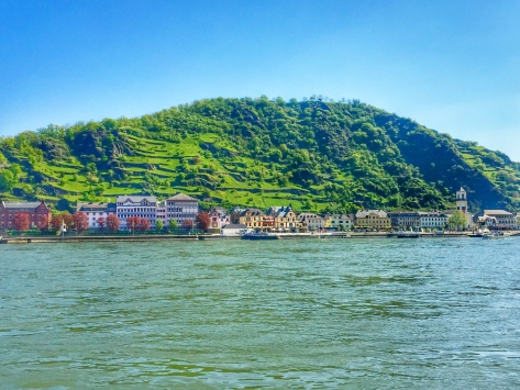 View of St. Goarhausen along the Rhine